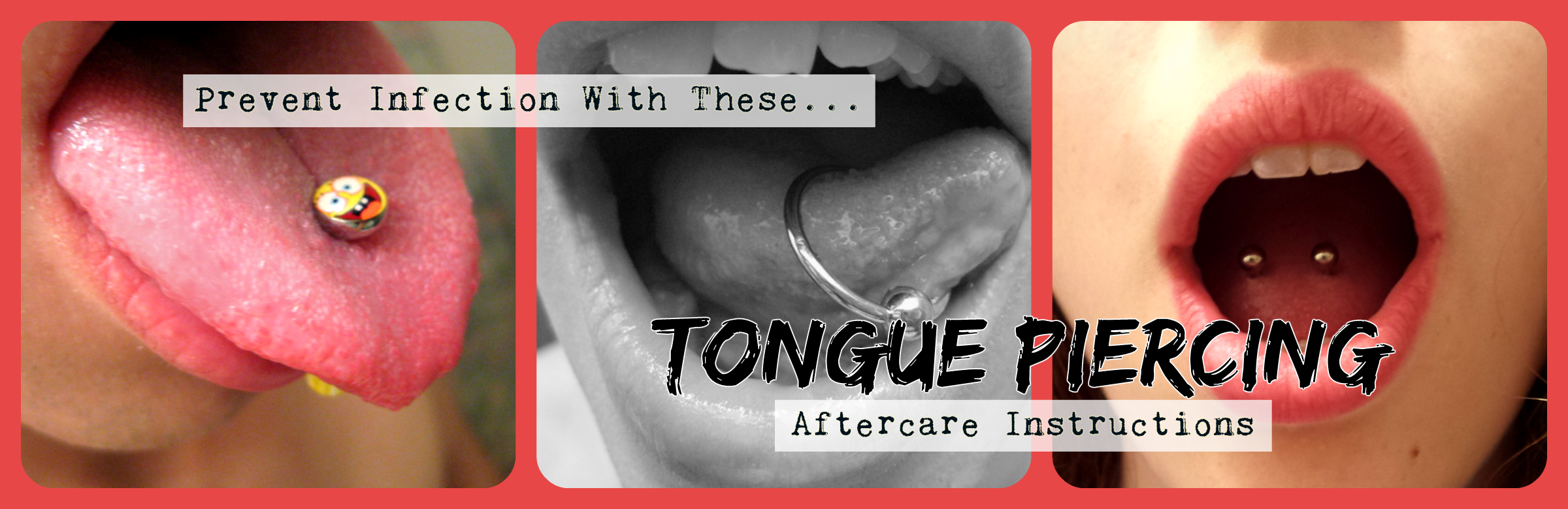 Tongue piercing aftercare instructions
