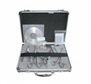 Complete Professional Self Ear Piercing Kit with Case