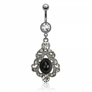 Stainless Steel Vintage Belly Bar