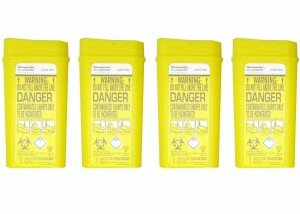 Sharpsafe Disposable Sharps Bin 0.2 Litre – Pack of 4